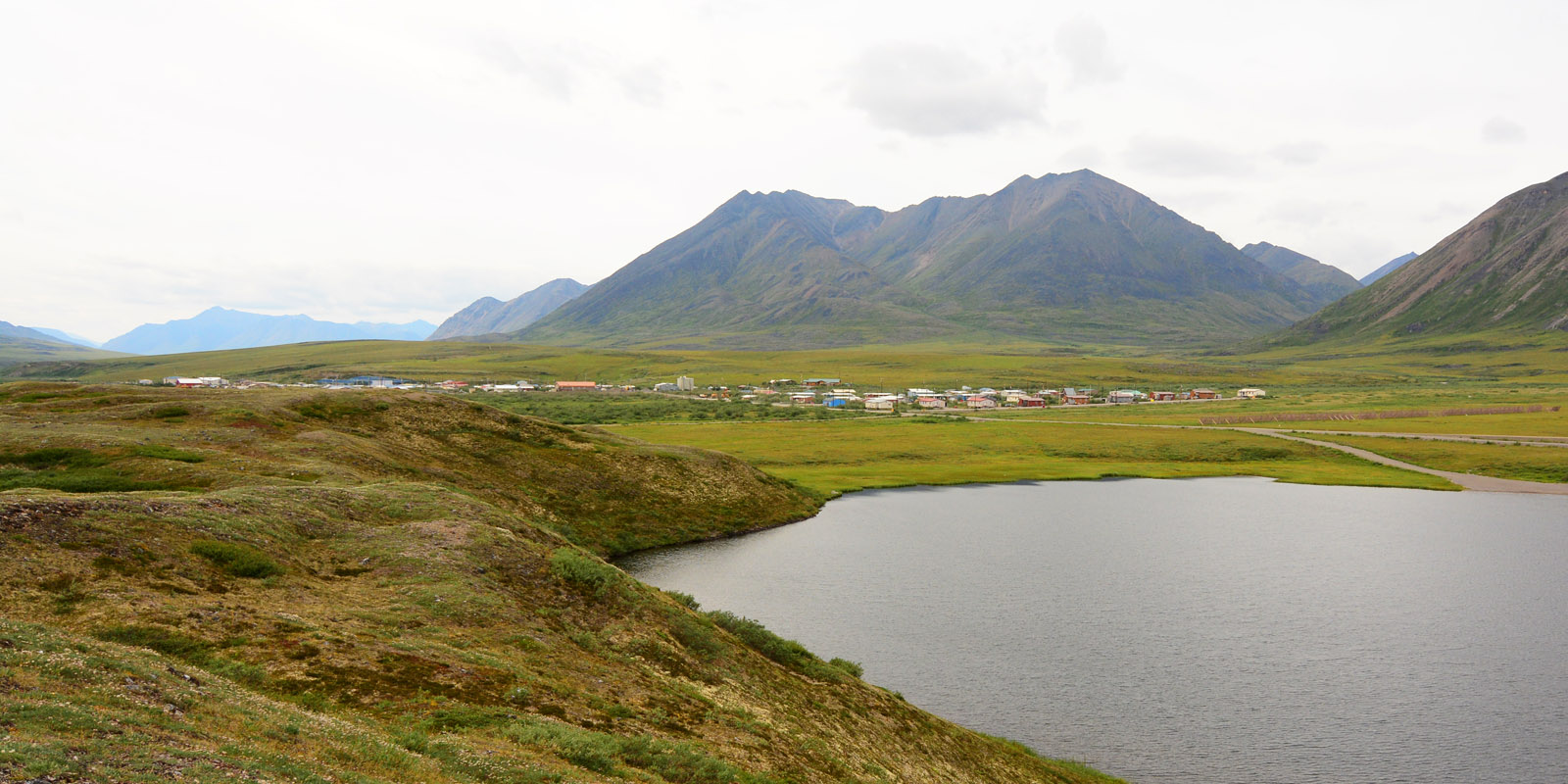 Anaktuvuk Pass, a small village in the Brooks Range mountains of Alaska