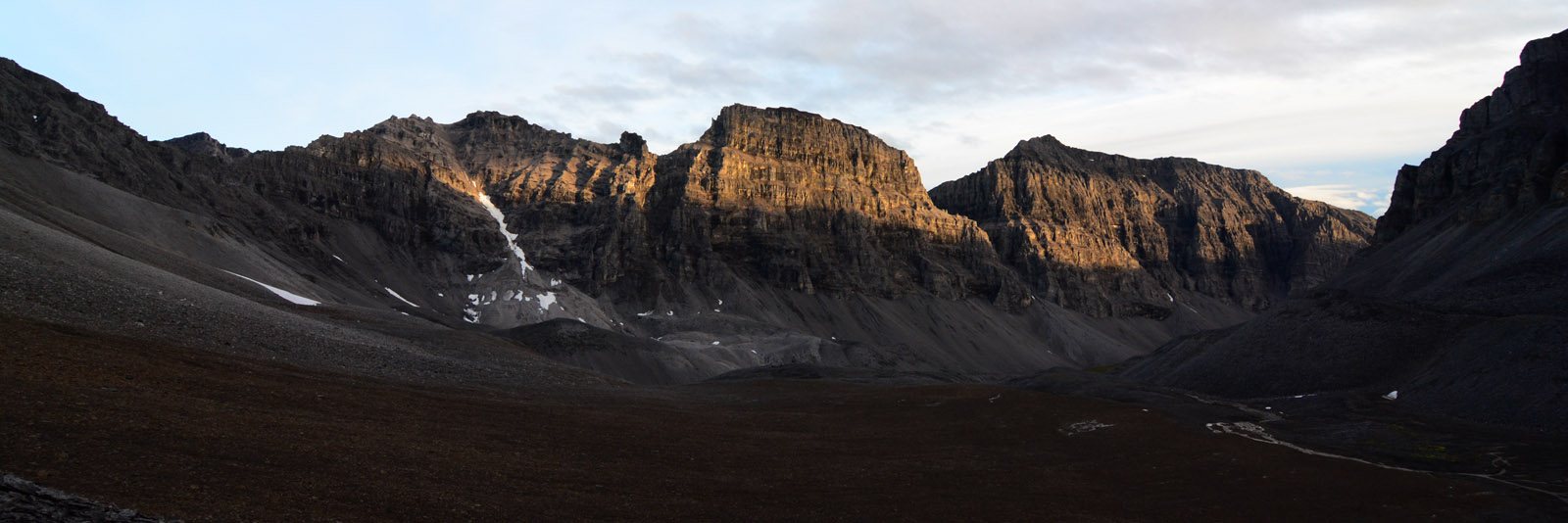 The steep limestone cliffs of Limestack Mountain, in Gates of the Arctic National Park and Preserve