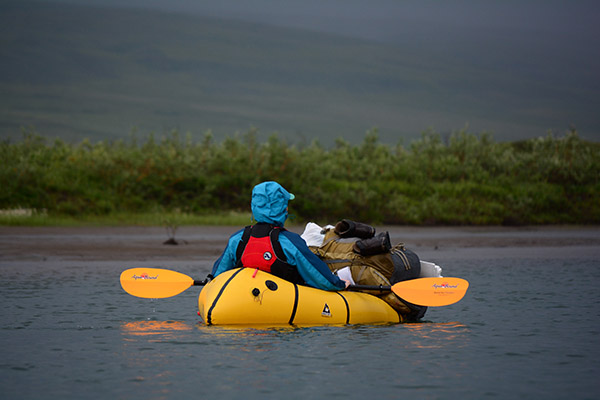 The Aquabound Manta Ray Fiberglass paddle on the Anaktuvuk River, Alaska