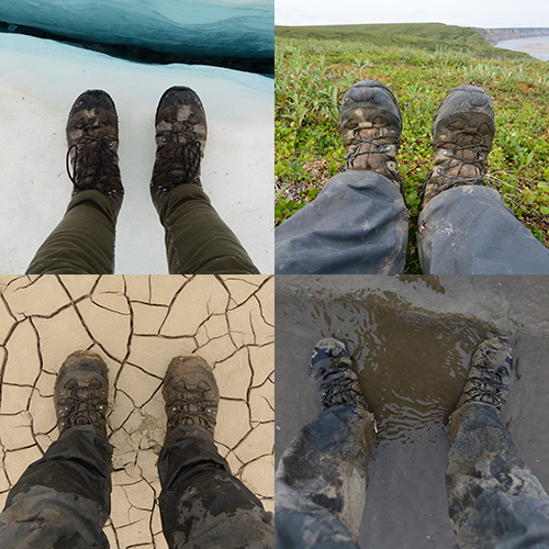 The Solomon Quest 4D GTX Hiking Boot in the Alaskan Arctic